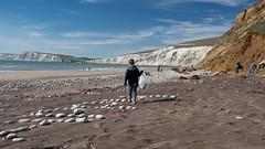 Isle of Wight Beach Clean at Compton Bay - DSCF2146 (s0ulsurfing) Tags: s0ulsurfing 2017 march isle wight beachclean pollution coast compton beach rubbish