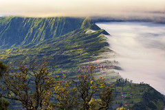 Cemoro Lawang Village (Jokoleo) Tags: bromo clouds village edge cemara lawang java indonesia tengger volcano highland highview mountain creek outdoor