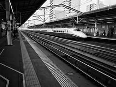 Shinkansen Bullet Train (Costa Rica Bill) Tags: iphone train japan blackandwhite vsco