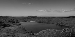 Sky Mirror (Phil_Moore) Tags: ifttt 500px lake water reflection clouds calm horizon monochrome peaceful hills sky sea ocean cumbria tarn district blea