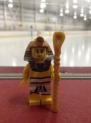 Pharaoh of the Ice Rink (splinky9000) Tags: kingston ontario constantine skating area earth day 32914 lego egyptian pharaoh minifigure