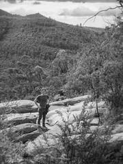 cliff - gibraltar falls - 0038 (liam.jon_d) Tags: 8 act mono arty australia australian australiancapitalterritory bw billdoyle blackandwhite commonwealth greatdivide greatdividingrange highcountry hike hiking monochrome mountain mountainrange namadgi namadginationalpark nationalpark park peopleimset portrait portraitimset ramblig reserve snowymountains track trail walking
