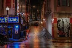 San Francisco nights (karinavera) Tags: travel sonya7r2 sanfrancisco street people night bar raining