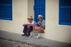 Trinidad, Cuba - Street Life (GlobeTrotter 2000) Tags: cuba trinidad carribean cigar tobacco old men steet vacation tourism explore world travel daily holidays sancti spiritus faces portrait face