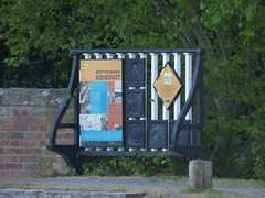 Photo of Wootton Wawen Aqueduct - Stratford-on-Avon Canal, Wootton Wawen - signs and cast iron plaques