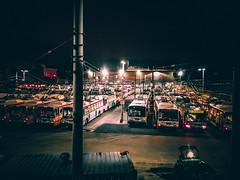 SF Muni Presidio Division (flrent) Tags: sfmta muni bus buses presidio division base transit car night evening sanfrancisco california étatsunis mta municipal agency