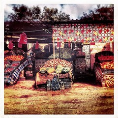 #instagram #iphone6 #iphoneography #hipstamatic #ManchesterHipstaPak #Flashjollyrainbow2x #urban #urbanview #urbanphotography #street #streetview #streetphotography #market #fruit #vegetables