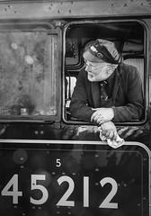 Engine Driver. (david newbegin) Tags: grosmont northyorkshiremoorsrailway enginedriver 45212 lms black5