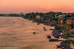 An Evening in Ghat (pcforprayashclicks) Tags: city varanasi benares india nikond3300 gods ganges boats river incredibleindia kashi