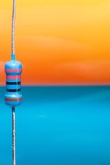 Orange and Blue (•Nicolas•) Tags: detail blue macromondays nicolasthomas orangeandblue color composant couleur electricity electronic macro orange resistance resistor vibrant bleu