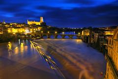 Albi at Dusk (hapulcu) Tags: bluehour albi france francia frankreich frankrijk frança tarn bridge cathedral dusk