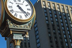 BU Clock (AntyDiluvian) Tags: boston massachusetts backbay kenmoresquare clock fourfacedclock foursidedclock bu bostonuniversity commave commonwealthavenue dorm dormitory warrentowers