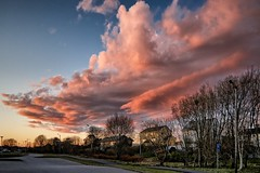 Beautiful clouds tonight, Haugesund - Norway (Vest der ute) Tags: g7x norway rogaland haugesund clouds trees houses sky fav25