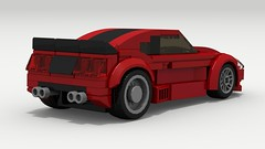 Ford Mustang Drag Racer (2018) (rear view) (LegoGuyTom) Tags: ford mustang muscle car cars pony coupe classic vintage v8 vehicle american america 2door 1980s 1990s lego legos ldd digital designer city dropbox download pov povray lxf fox body drag dragster race racer racing 2018 2000s 2010s fast speed speedster sport sports auto
