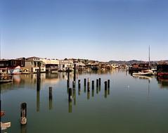 Waterworld (Scott Holcomb) Tags: waldopoint sausalito marin california asahipentax6x7 supermulticoatedtakumar6x713555mmlens kodakportra400film 220film 6x7 mediumformat epsonperfectionv600 photoshopdigitalization
