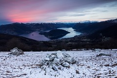 Last Snowing on Lake (Andrea Moraschetti Photography) Tags: ngc snow white pink sunrise morning colors clouds sky lake iseo island mount mountains landscape view viewfromeabove italian place italy brescia lago water summit peak top