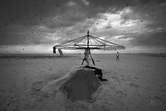 Stand alone... (aestheticsguy2004) Tags: neeteshphotography blackwhitephotography bwphotography nikon nikond750 nikond750tamron1530 nikonindia nikonasia tamron1530 marinabeach tamron