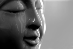 Namaste (Melissa_JMH) Tags: macro glazed mondays face glaze tamron 90mm nikon nikond610 d610 mug reflection contrast curves namaste mono monochrome bw black white blackwhite macromondays