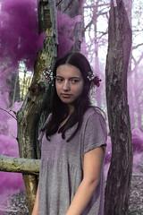 Sorceress; Spell (elysiayard) Tags: embodiment witch sorceress enchantress magic spell sleep haze lightroom photography woodland girl female woman mother nature canon70d purple narcosis faint