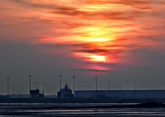BARROW IN FURNESS, CUMBRIA (pajacksonartist) Tags: barrowinfurness cumbria barrow dock docks sky sun sunset stunning ship