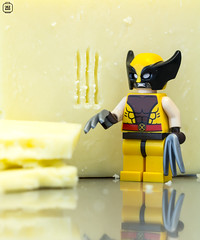 Wolverine grater (jezbags) Tags: lego legos toys toy marvel wolverine claws minifigure minifigures macro macrophotography macrodreams macrolego xmen cheese grater canon60d canon 60d 100mm closeup upclose marks cut yellow black