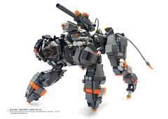 "Wulfaz ""Reaper"" Lupus WL.44 STA (Surveillance and  Target Acquisition) mecha - W.I.P (Benjamin Cheh) Tags: lego wolf afol mecha wip cool animal"