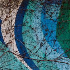 ornaments (zeh.hah.es.) Tags: kreis5 zurich zürich langstrasse schweiz switzerland wand wall blau blue grün green weiss white türkis ranken