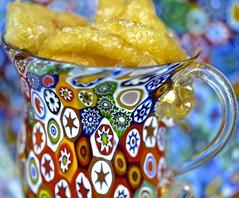 glaze, cruller, HMM! (David McSpadden) Tags: cruller cup glaze hmm macromondays millefiore murano dalycity ca usa
