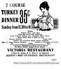Victoria Restaurant  menu, 40 state st.  albany ny (albany group archive) Tags: early 1900s menu
