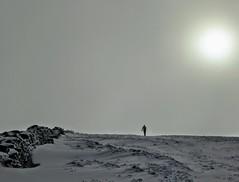HIGH STREET, LAKE DISTRICT (pajacksonartist) Tags: high street lake district cumbria england walker walking hiker hiking wall snow mountain mood mist