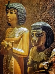 Ushabti figures found in King Tutankhamun's burial chamber New Kingdom 18th Dynasty Egypt 1332-1323 BCE (mharrsch) Tags: figure figurine sculpture statue pharaoh king ruler tutankhamun burial tomb funerary 18thdynasty newkingdom egypt 14thcenturybce ancient discoveryofkingtut exhibit newyork mharrsch premierexhibits gold ushabti