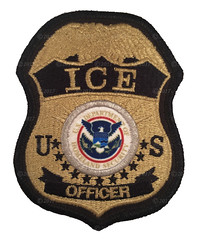 ICE Officer Badge Patch (Nate_892) Tags: ice immigration customs enforcement federal agent officer patch police dhs homeland security detention removal operations badge