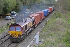 66063 King's Sutton, Northamptonshire (DieselDude321) Tags: 66063 class 66 4z69 0945 southampton west berth masborough fd kings sutton