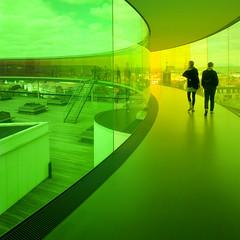 Denmark - Aarhus - AROS - Inside Your Rainbow panorama 03_sq_DSC6868 (Darrell Godliman) Tags: denmarkaarhusarosinsideyourrainbowpanorama03sqdsc6868 green sq bsquare squares squareformat aros arosaarhuskunstmuseum arosartgallery arosmuseum yourrainbowpanorama olafureliasson ólafurelíasson futuristic contemporaryart modernart installation artgallery gallery museum schmidthammerlassen contemporaryarchitecture modernarchitecture architecture building aarhus århus jutland denmark danmark dk scandinavia ©dgodliman darrellgodliman wwwdgphotoscouk dgphotos allrightsreserved copyright travel tourism europe eu europeanunion europeseunie unióneuropea unioneuropéenne omot instantfave flickrelite nikond300s nikon d300s travelphotographer travelphotography architecturalphotography architecturalphotographer