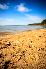Sand Pebbles (Atomic Eye) Tags: nanjemoy maryland unitedstates us pursestatepark md beach potomac potomacriver sand pebbles water tide surf skies clouds bokeh landscape outdoors nature outside sunny rock