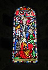 Happy Easter (Ian Robin Jackson) Tags: easter aberdeenshire stainedglass drumcastle religion window light collours art sony zeiss april drum drumoak