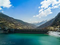 Diga Pontechianle (StefanoRicca89) Tags: lago pontechianale diga dji djimavicpro mavicpro azzurro lake