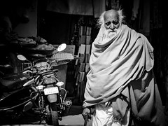 Streets of Pushkar (nicklaborde) Tags: 500px portrait people street adult man motorcycle one streets lumix elderly outfit pushkar wear panasonic gx7 lumixlounge