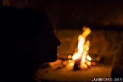 Pinecone nights (The Whisperer of the Shadows) Tags: margui margarita chica girl mujer woman fire fuego fireplace hoguera orange naranja catchycolorsorange portrait retrato 50mm shadow sombra silhouette silueta