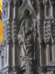 Cowled Figure (Aidan McRae Thomson) Tags: worcester cathedral worcestershire medieval sculpture carving statue