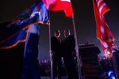 "Governor Cuomo Unveils ""New York Harbor of Lights"" with Spectacular Light Show on the New Kosciusko Bridge and Empire State Building (governorandrewcuomo) Tags: newyork usa"
