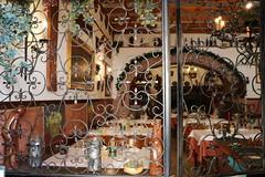 inside a restaurant (xiaolifra) Tags: vetrata window ristorante tavoli table resturant bracciano dish piatti