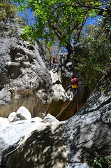 Rapel en el cañón de San Lorenzo (::: Mer :::) Tags: sierrazapaliname coahuila cañondesanlorenzo rapel rappel outdoors mountains montañas cerros hiking montañismo caminata naturaleza nature canyon