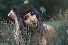 Portrait of Drew Suicide (Grazia Mele) Tags: suicidegirl roma rome portrait tattoed violet emotive