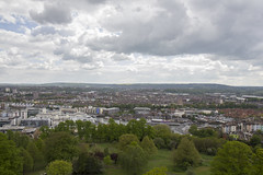 Bristol viewed from the Cabot Tower, Brandon Hill (Dai Lygad) Tags: england uk bristol cabottower view panorama clouds sky trees city amateurphotography photos photographs images pictures jeremysegrott dailygad