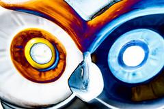 Eyes on you (sniggie) Tags: texture art owl macrophotography porcelain bowl glaze solarizationfilter eyes beak metaphor macro macromondays