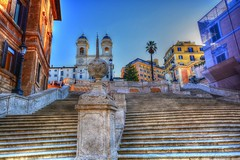 Trinita' dei Monti (giannipiras555) Tags: roma chiesa scalinata palma albero