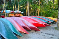 Canoes (Jim Binnall) Tags: canoes canoesinarow