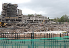 Demolition County Hall, Croesyceiliog, Cwmbran 21 May 2013 (Cold War Warrior) Tags: demolition countyhall monmouthshire cwmbran croesyceiliog