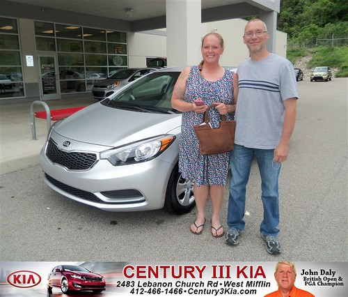 Century 3 Kia would like to say Congratulations to David Benner on the 2014 Kia Forte